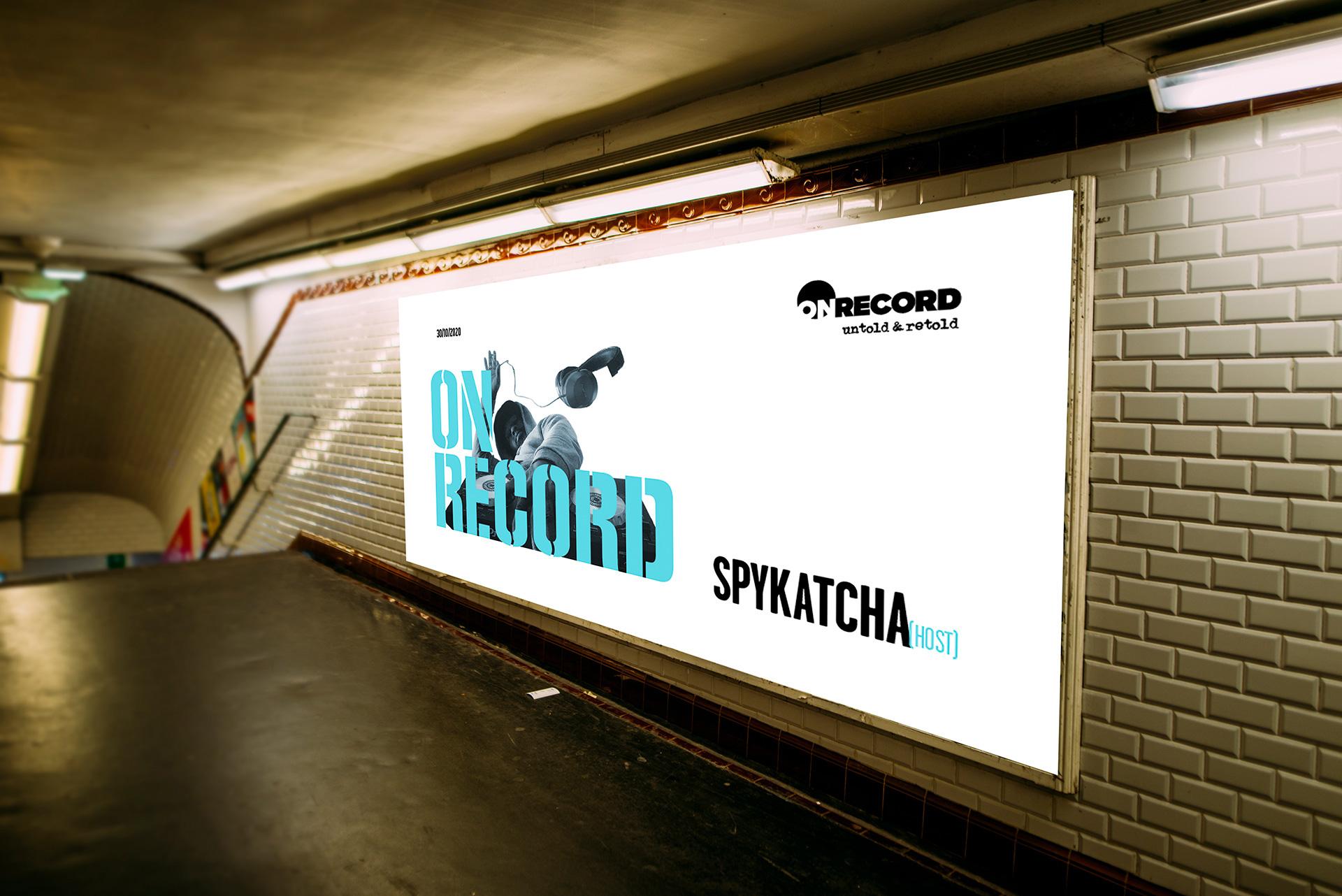 on record train advert